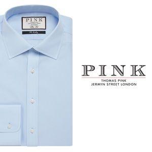 Thomas Pink Superfine Two-Fold Light Blue Shirt